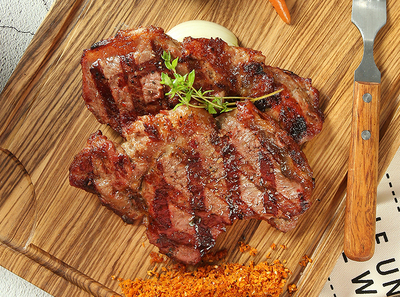 美式西冷牛排 ¥ 69 American Sirloin Steak by Fruit Wood